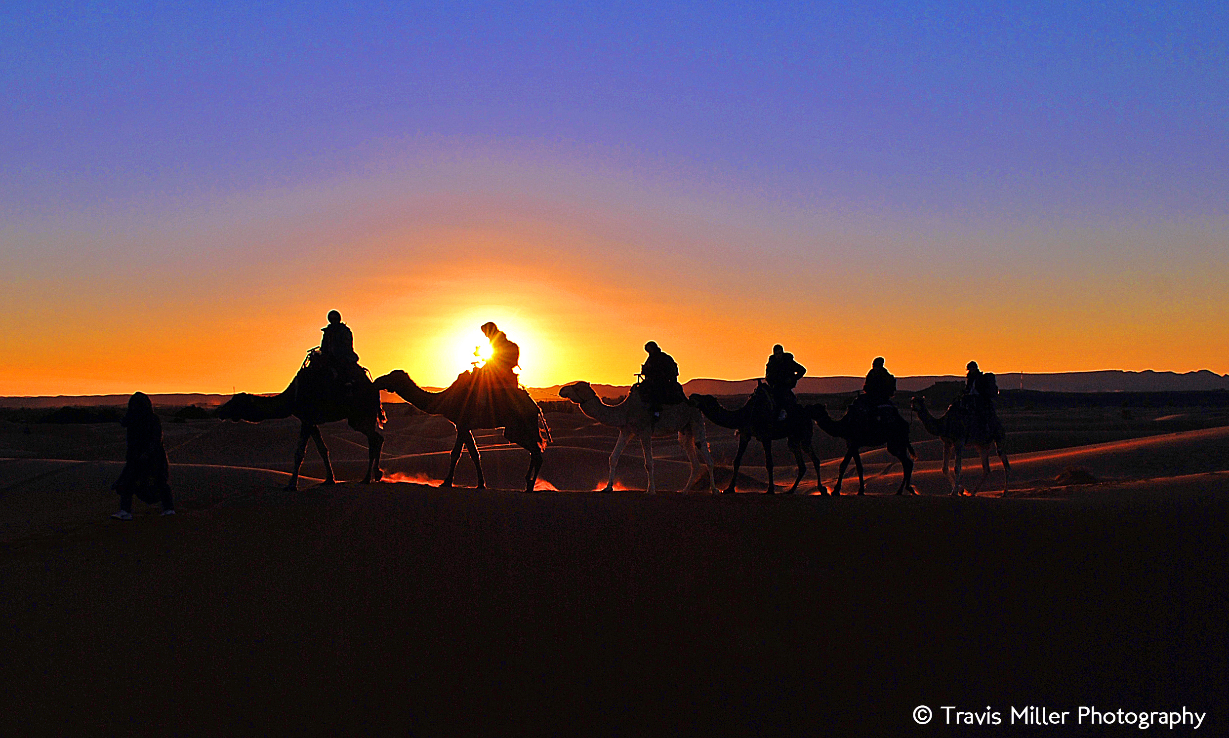 Saharan Sunset /   Merzouga, Morocco