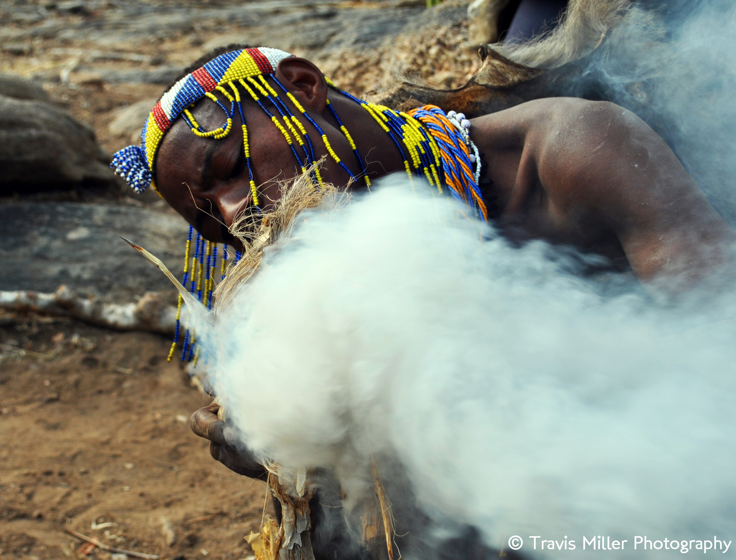 Making Fire /   Central Rift Valley, Tanzania
