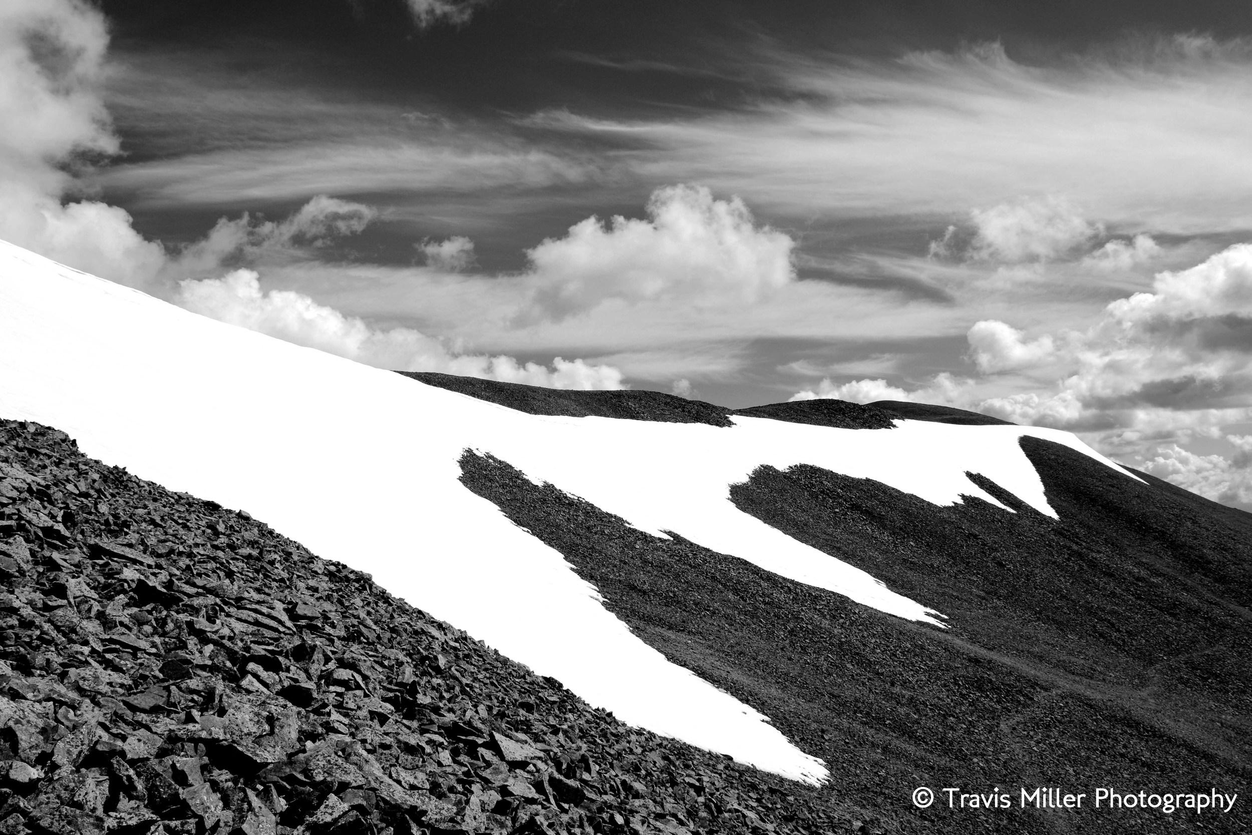 San Luis' Arm, in Black-and-white /     La Garita Wilderness Area, CO