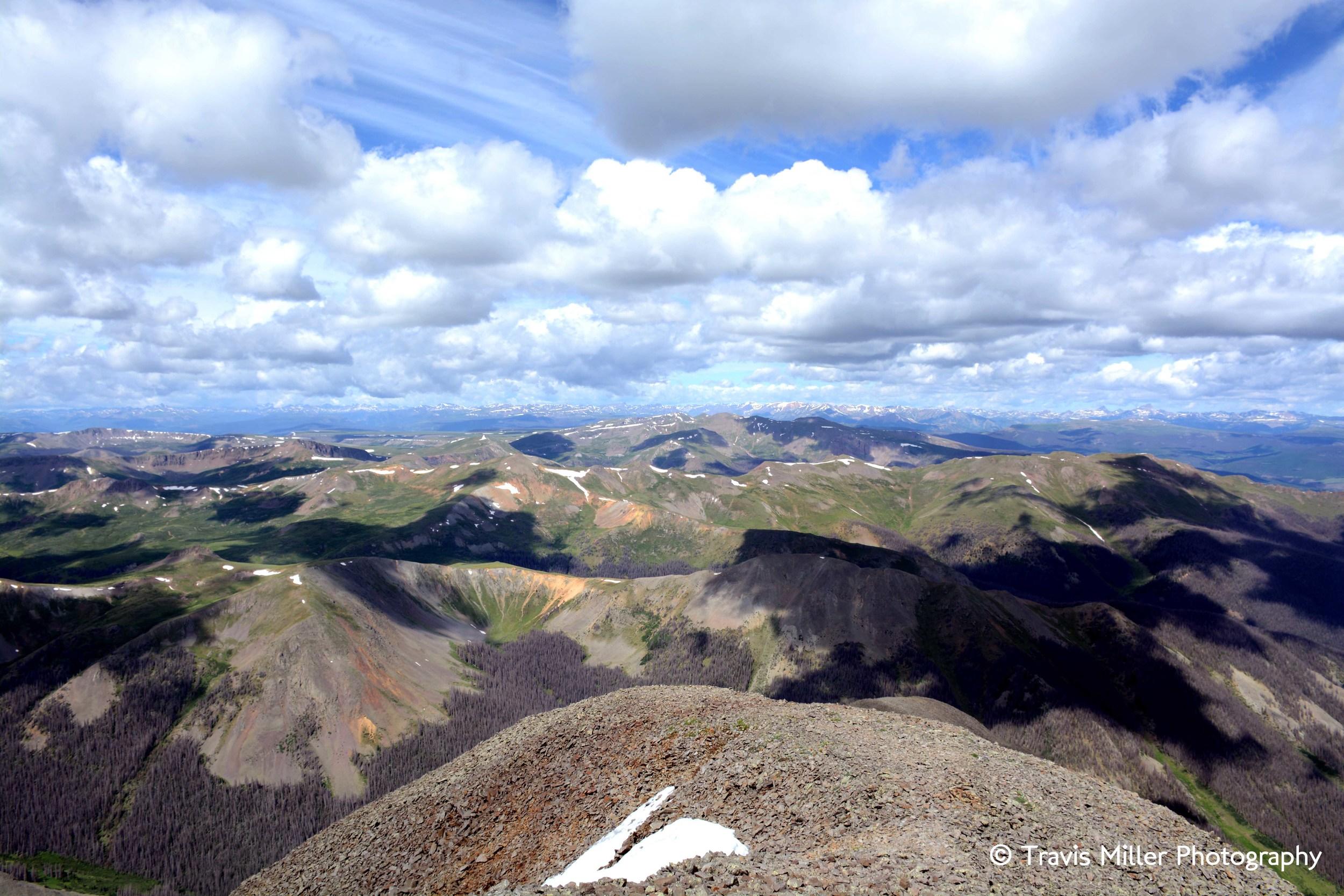 The View from 14,014 /     La Garita Wilderness Area, CO