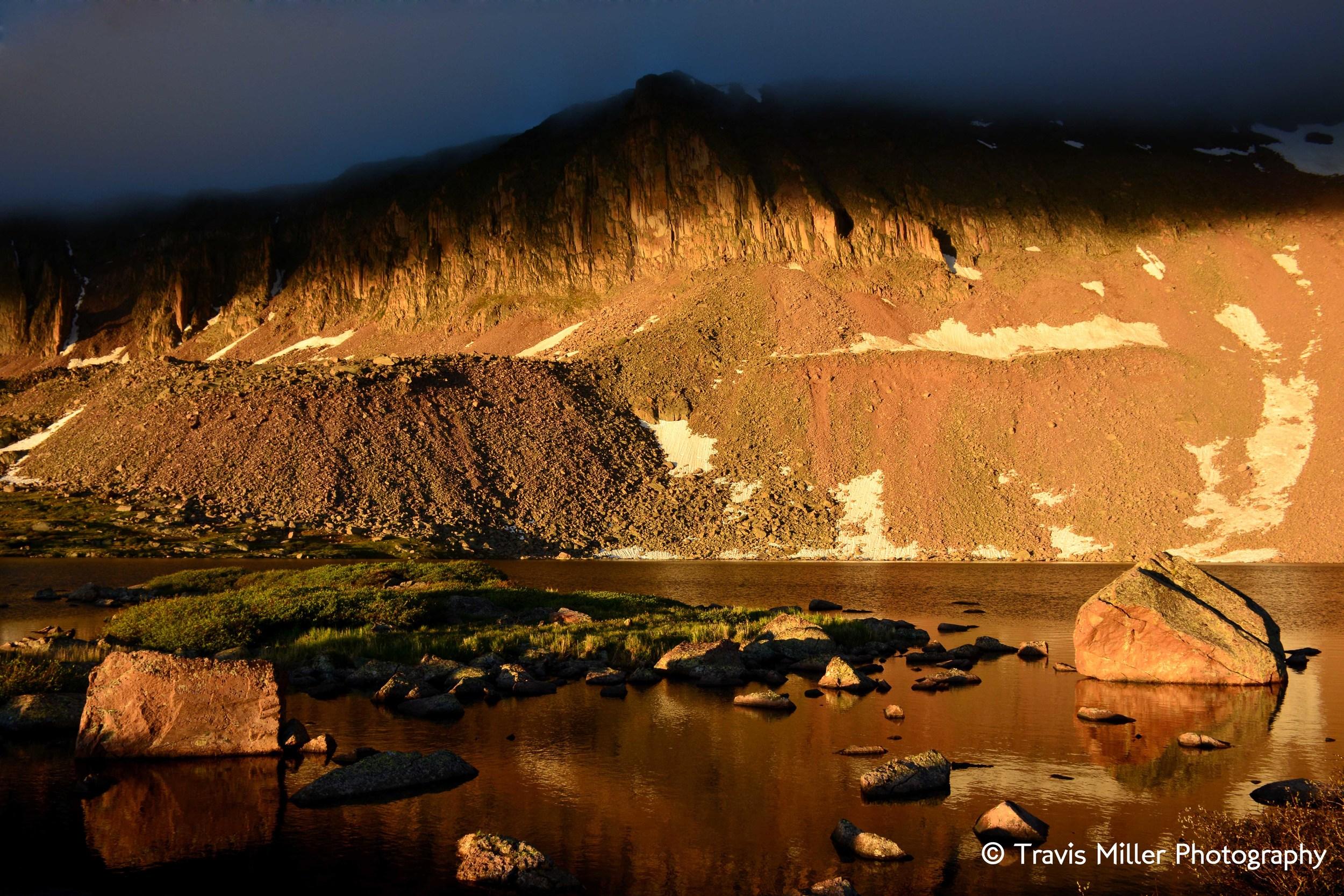 Machin Lake in the Early Morning /     La Garita Wilderness Area, CO