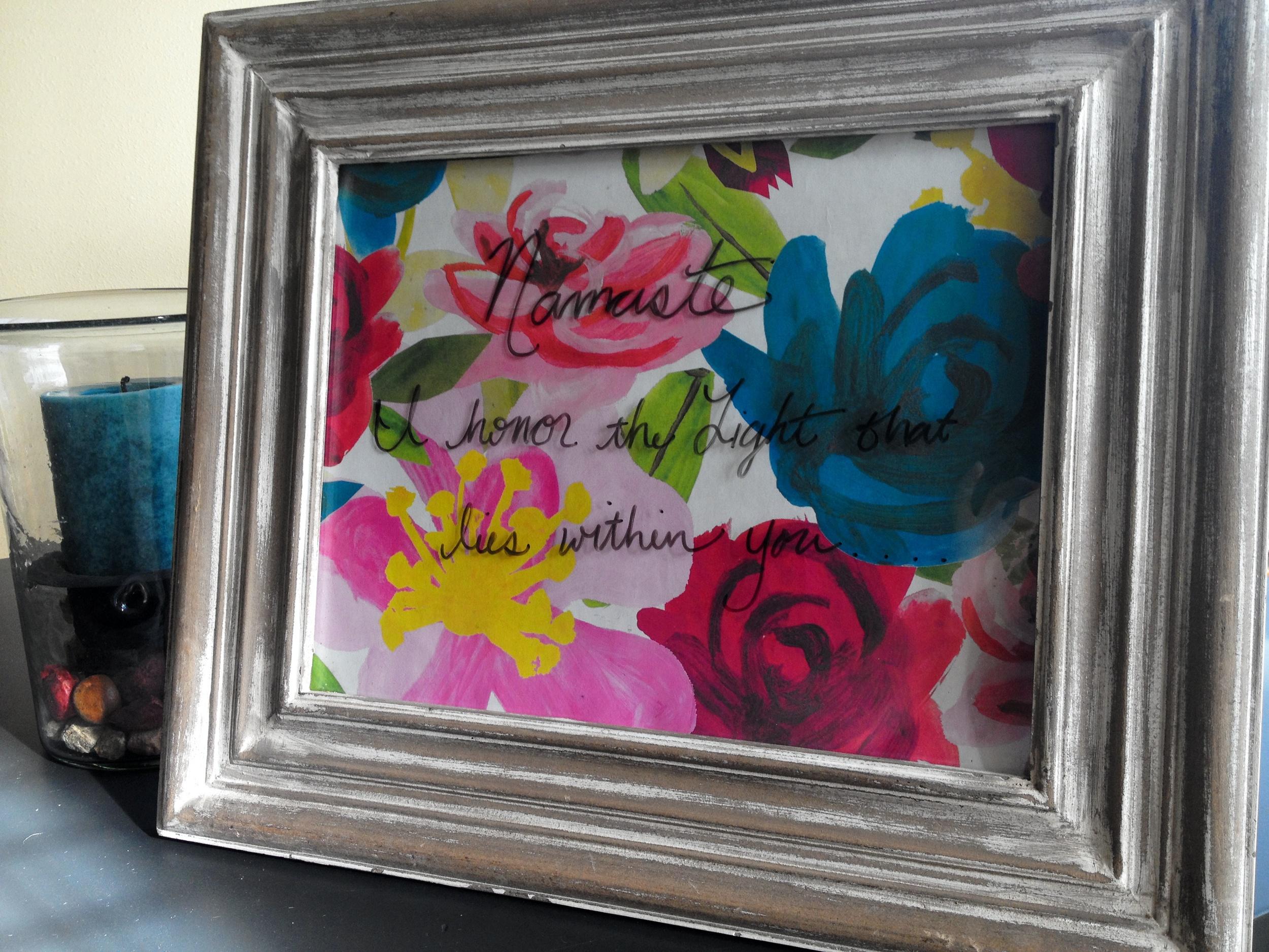 DIY frame art