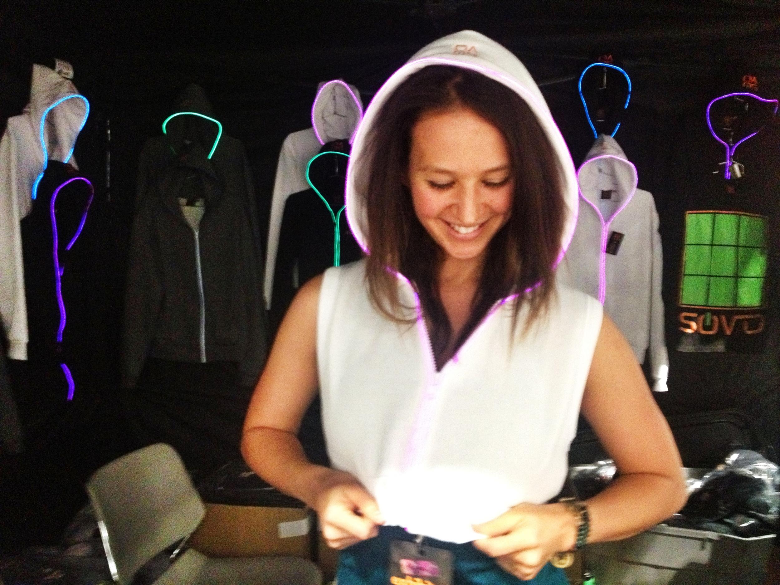 light up hoodie