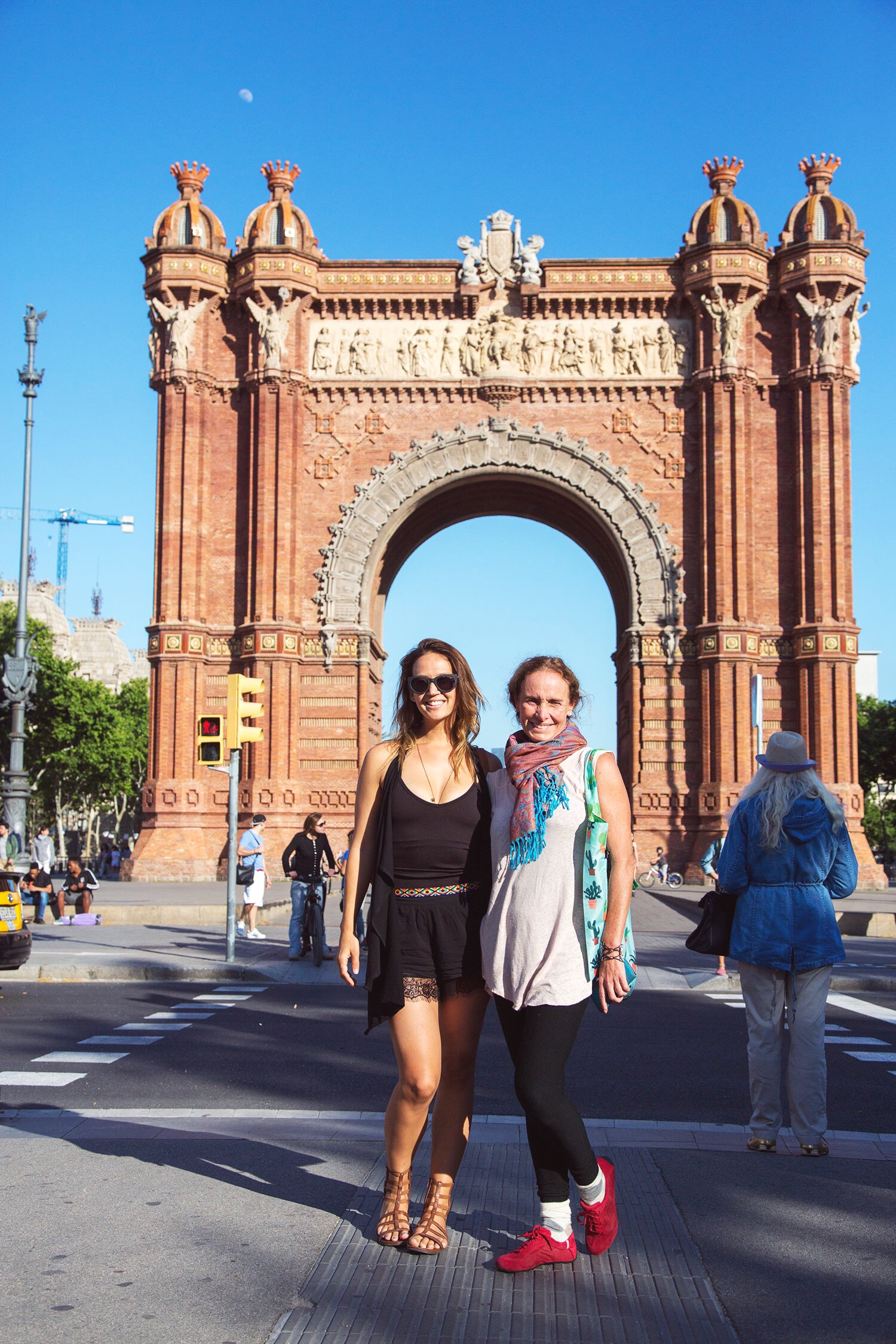 Playa Vest + Mariella Tank + Spanish Belt + Lace Shorts