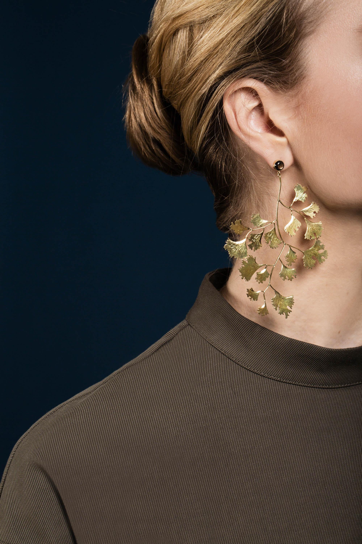 Ginko leaf earrings gold sapphire.jpg