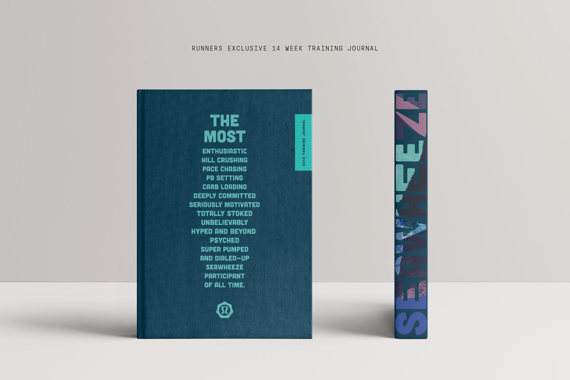 lululemon SeaWheeze 2018 Half Marathon Branding – Collateral book design with inspiring brand message.