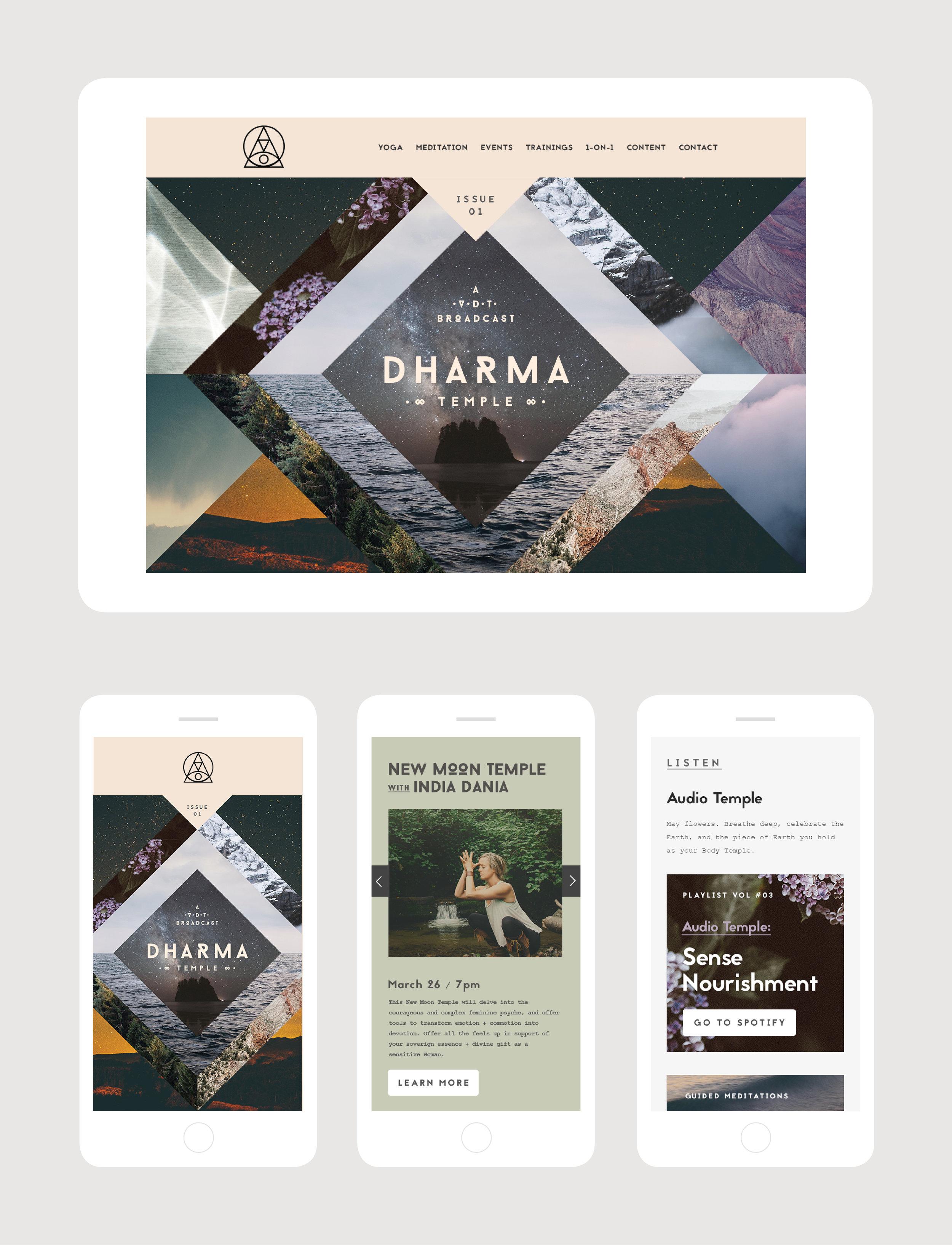 Digital artwork and web content design for an online newsletter