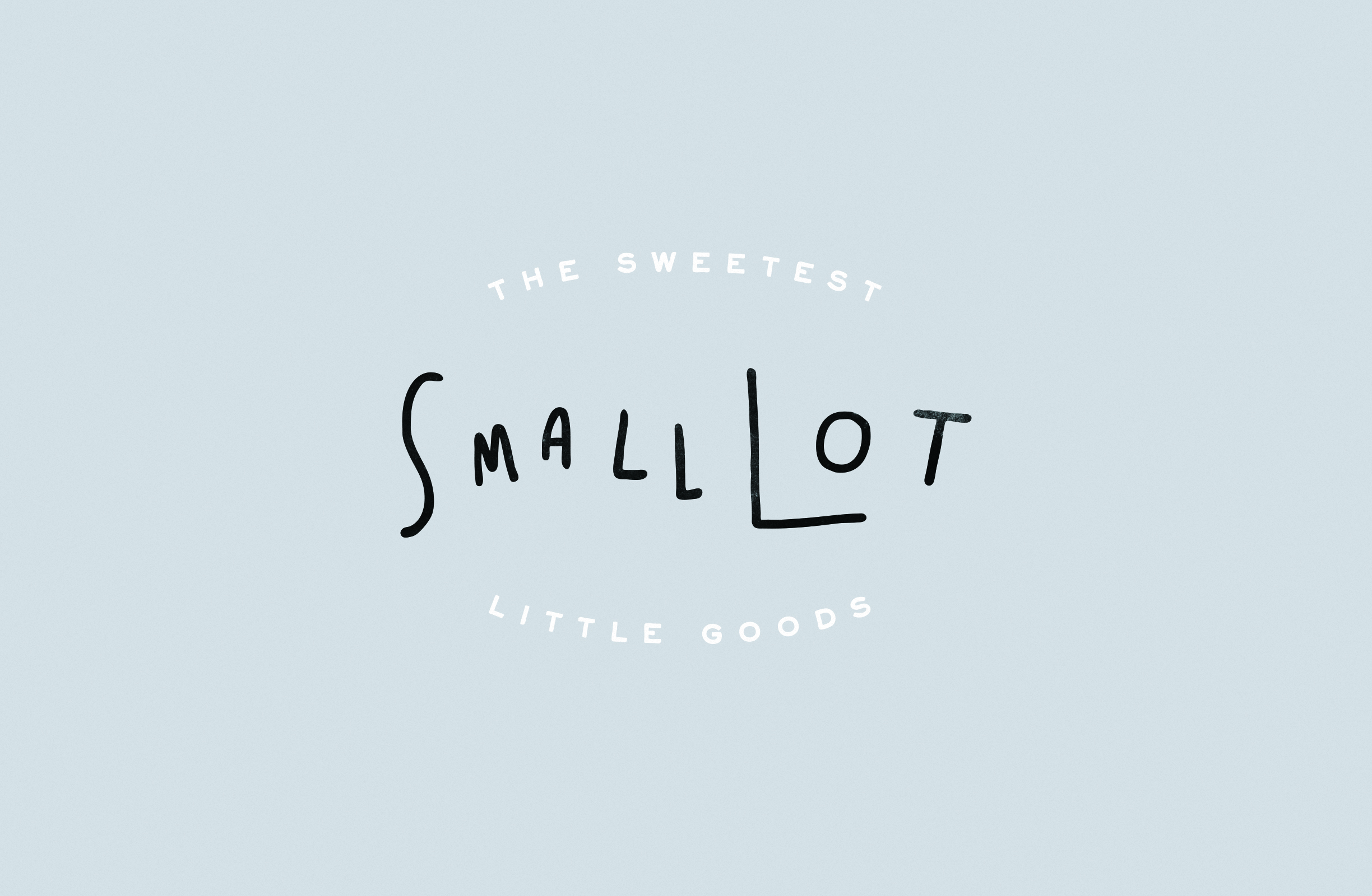 Logo Design for kids lifestyle brand Small Lot using playful approachable hand lettering.