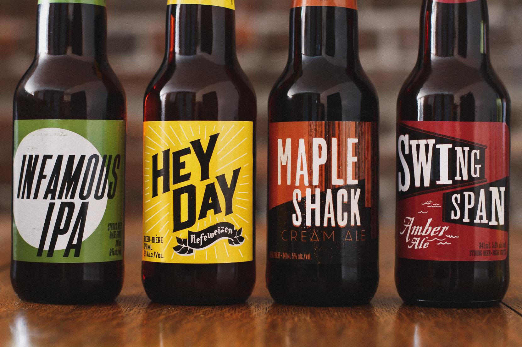 Craft beer brand design and product packaging for the under the bridge series showing bold visual aesthetic