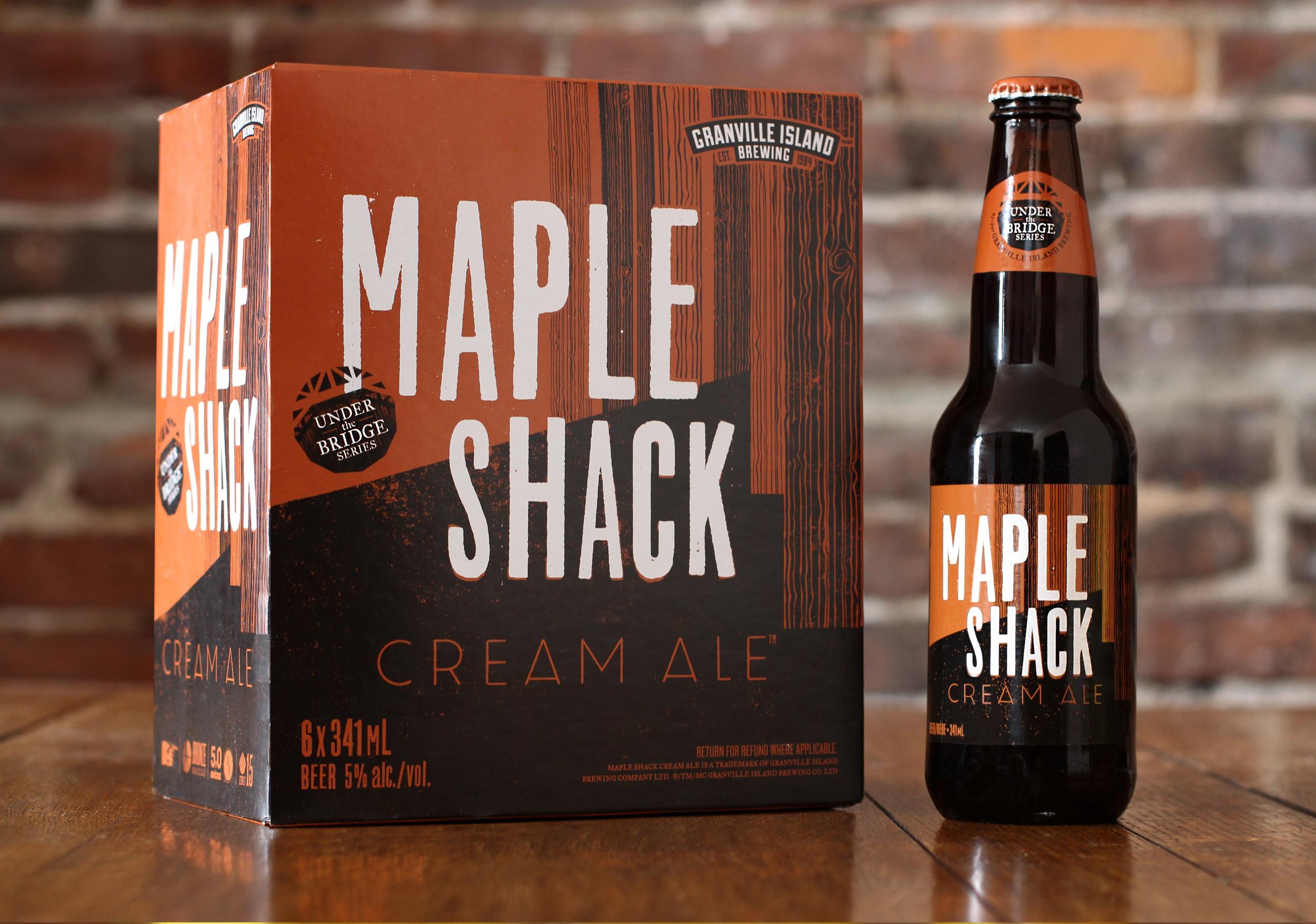 Maple Shack Cream Ale Beer Packaging