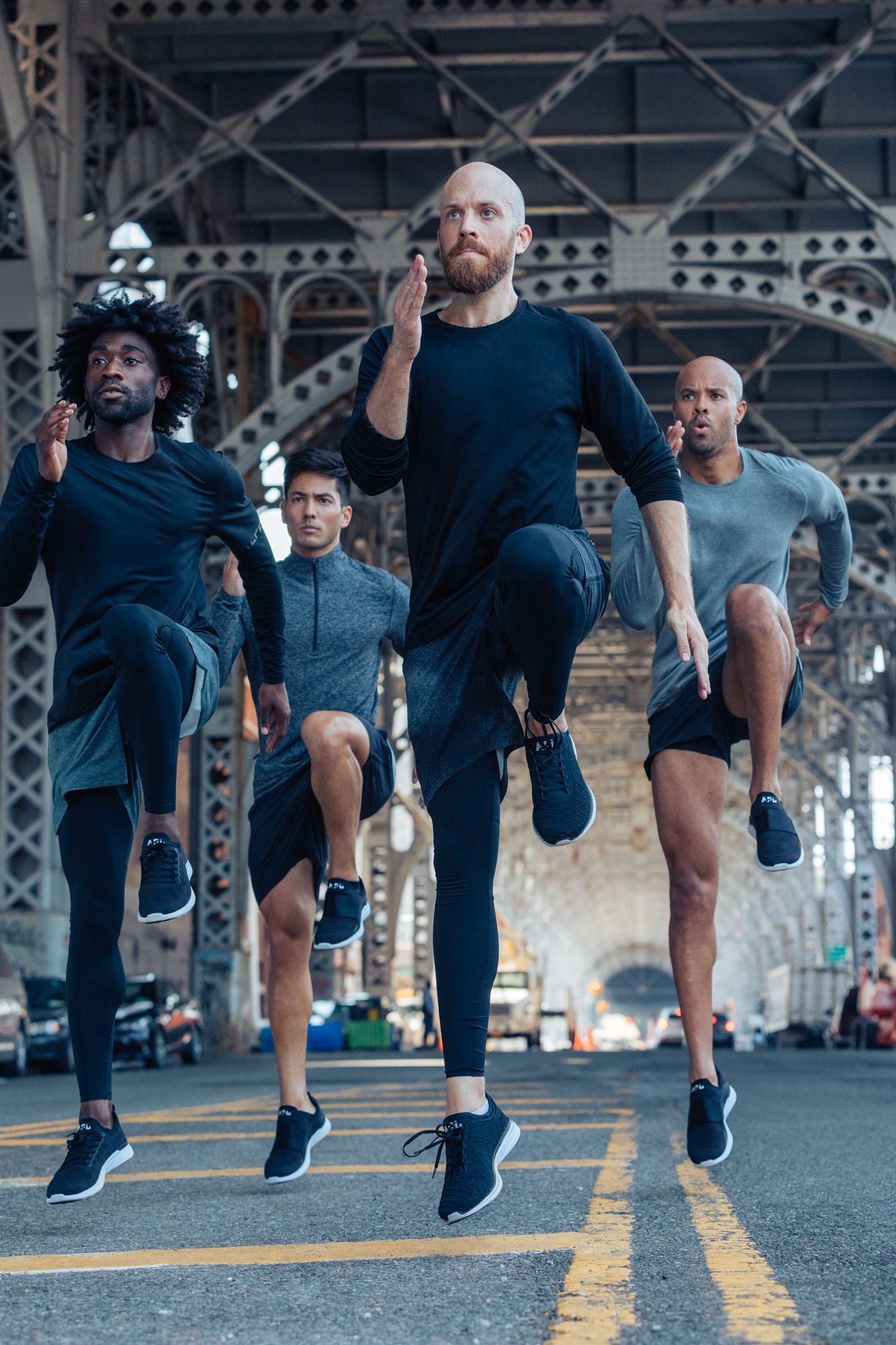 Group mens train lifestyle photography direction for activewear brand lululemon in new york city