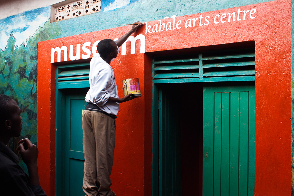 Adding the final touches to the Kabale Arts Centre (2010)