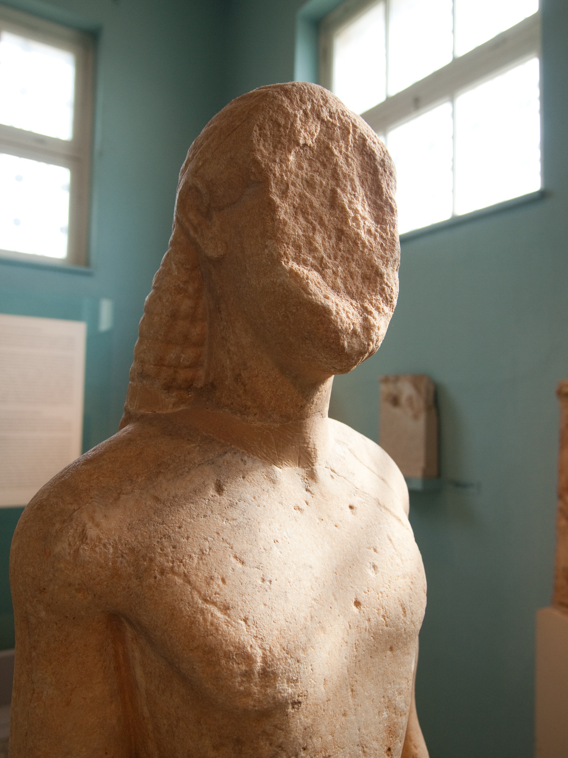 Kouros at the Archaeological Museum of Eleusis.