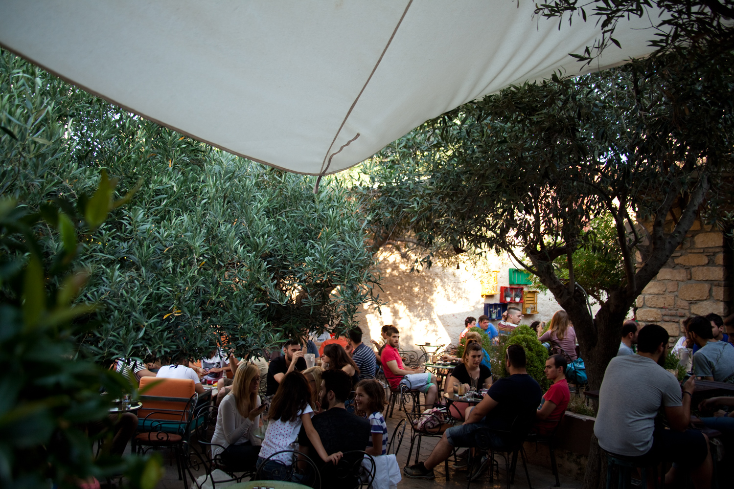 Local cafe in Eleusis.