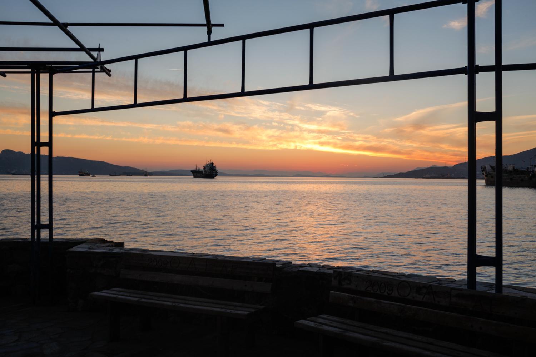 Waterfront of Eleusis.
