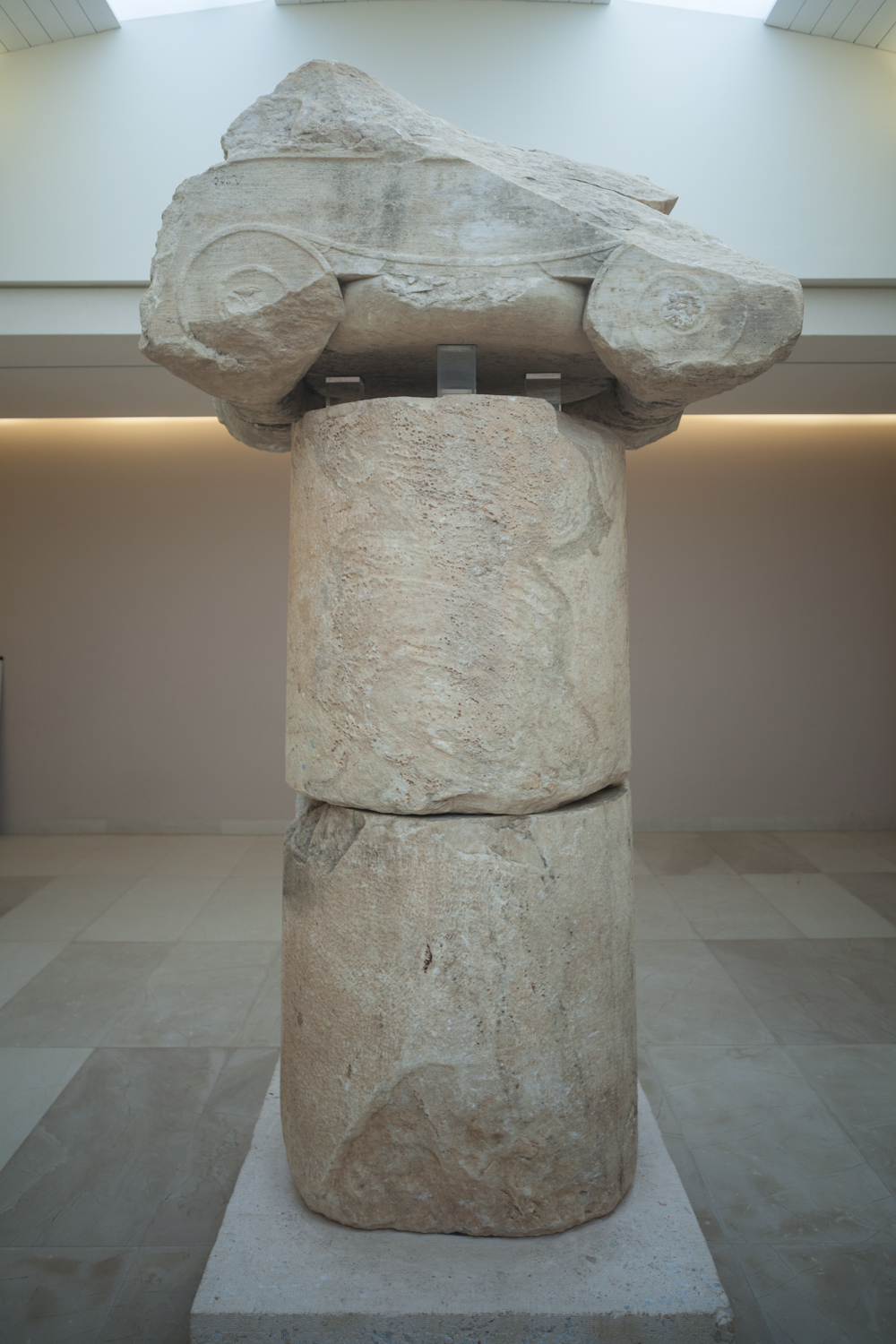 Trophy column erected by the Athenians after their victory at the Battle of Marathon. Seen here in Marathon's Archaeological Museum.