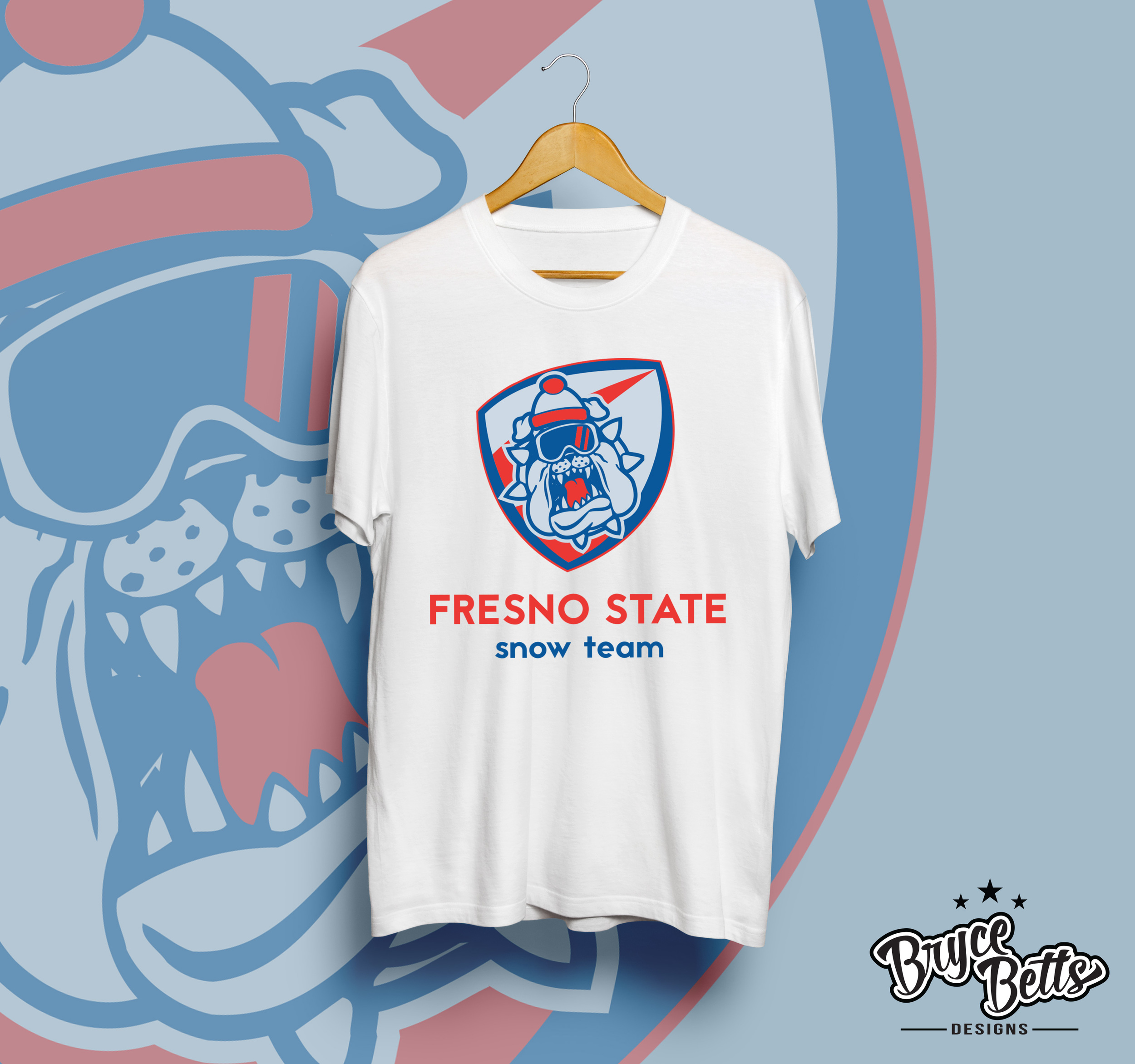Fresno State Snowboarding shirt design