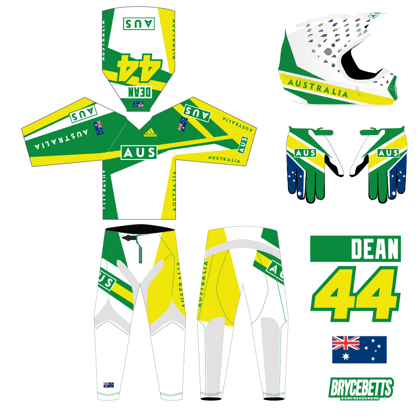 Australia BMX Racing Olympic Gear Design