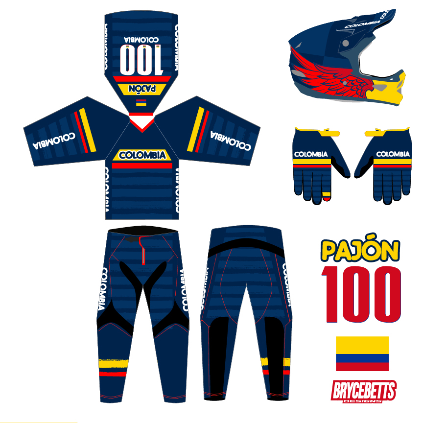 ColoColombia BMX Racing Olympic Gear Design