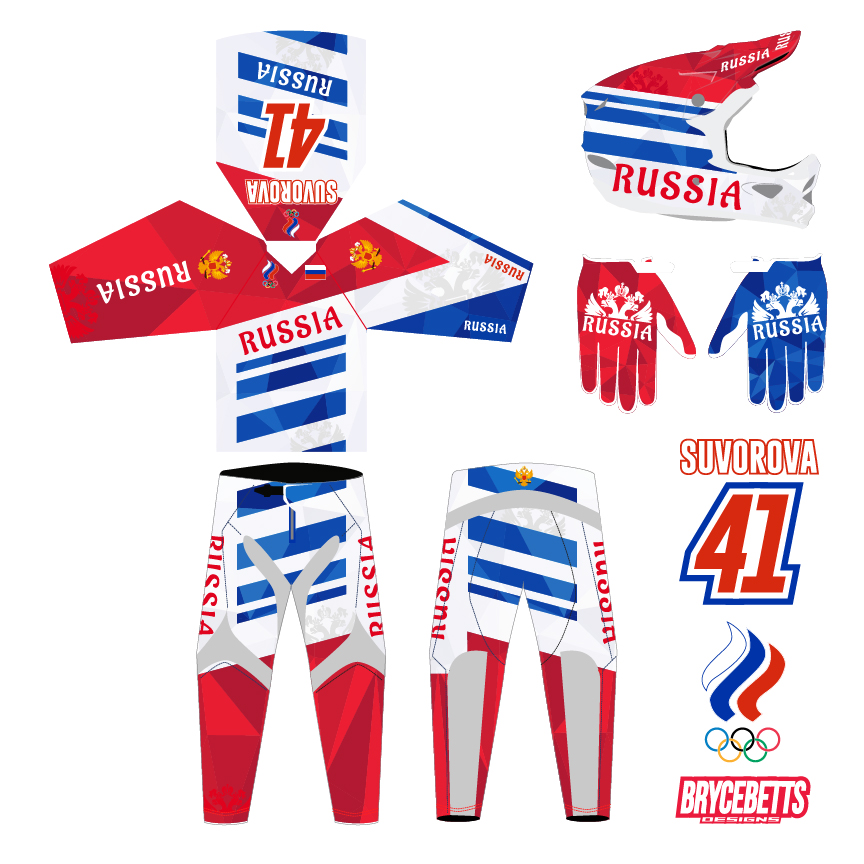 Russia BMX Racing Olympic Gear Design