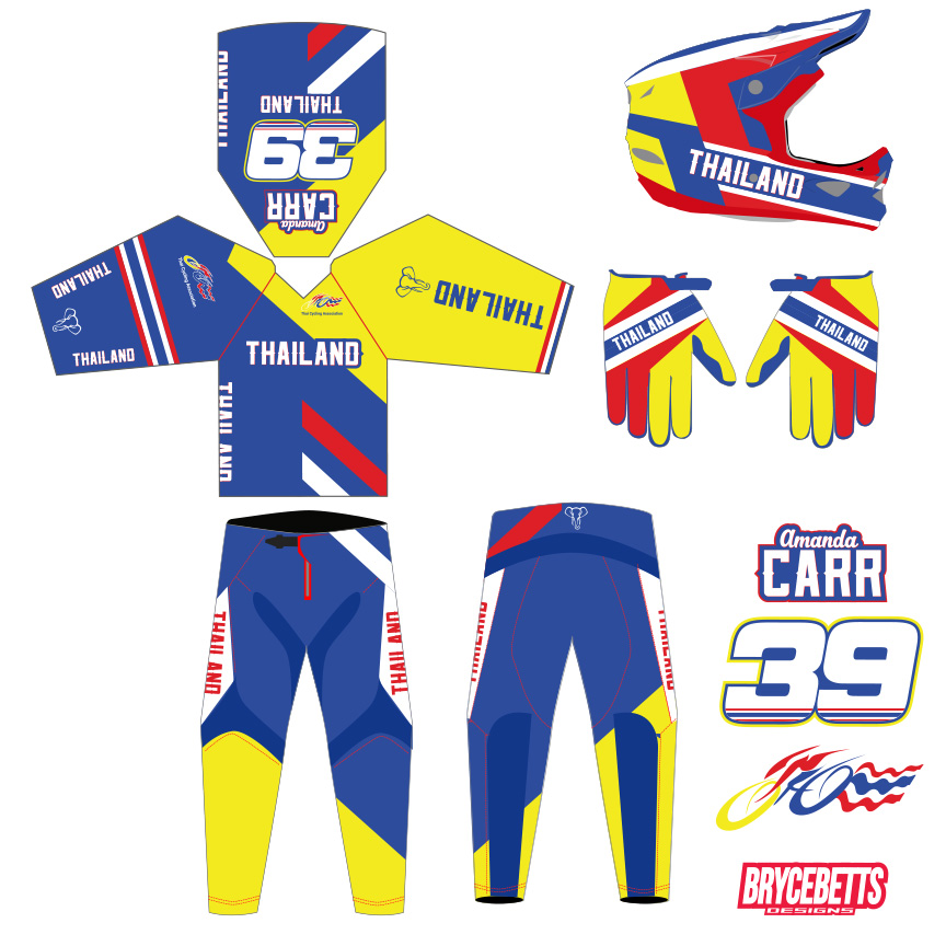 Thailand Colombia BMX Racing Olympic Gear Design