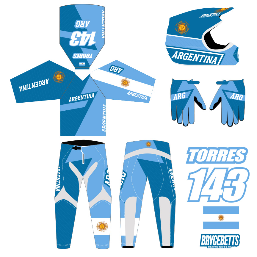 Argentina BMX Racing Olympic Gear Design