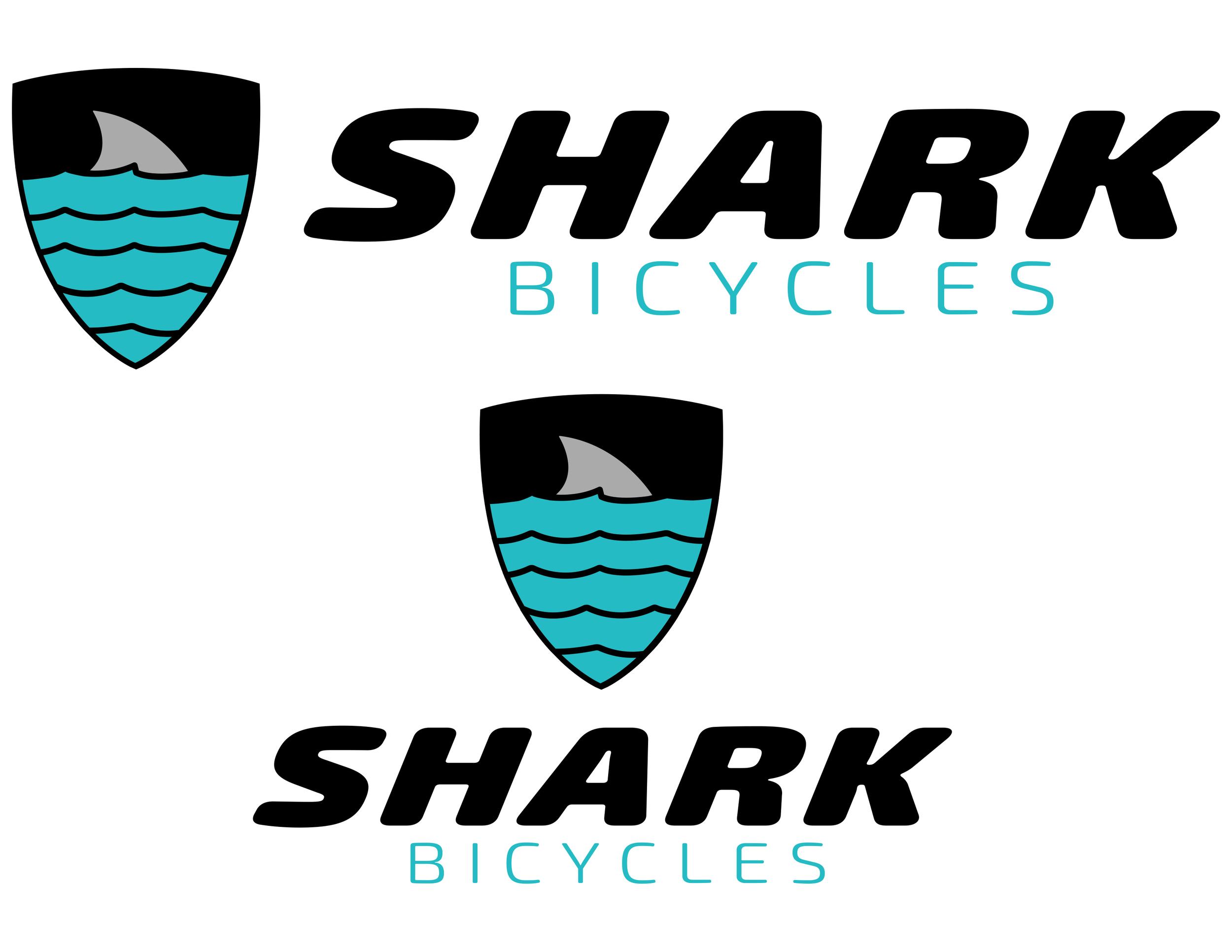 Custom Logo design for Shark Bicycles