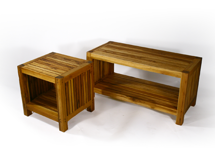 The Teak Slat Table
