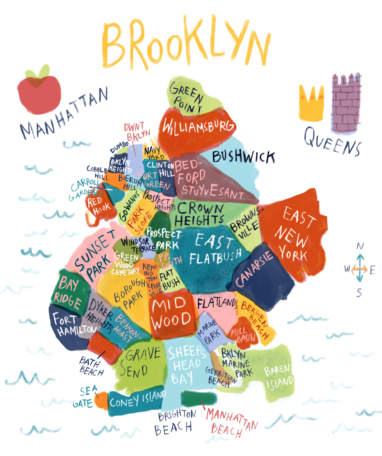 ILLUSTRATION MAP OF BROOKLYN BY  SARAH GREEN