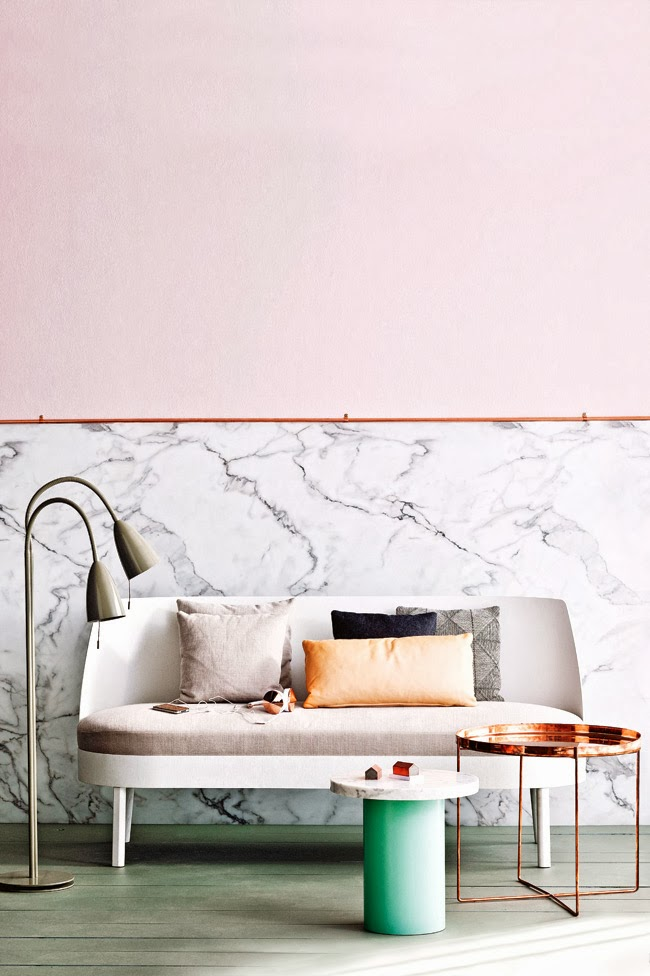 IMAGE: NEW ZEALAND AND DESIGN BLOG     TREND WATCH - MARBLE WALLPAPER, ADDING TO THE WISHLIST RIGHT NOW.