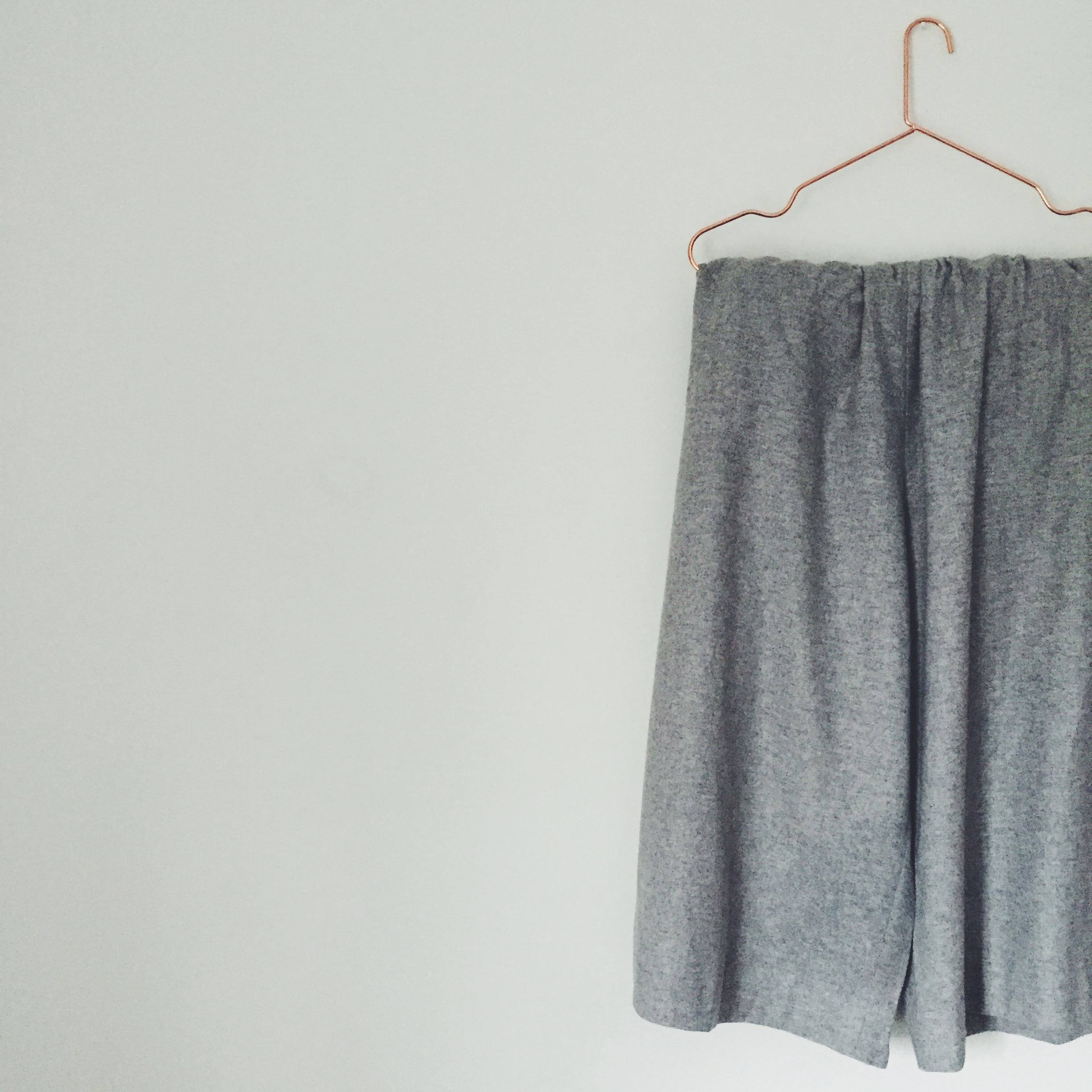 OBJECT STYLE GREY WOOL CULOTTES