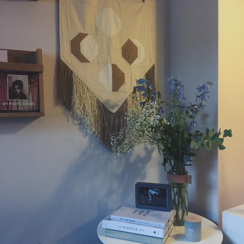 A quiet,tidy corner in my living room.