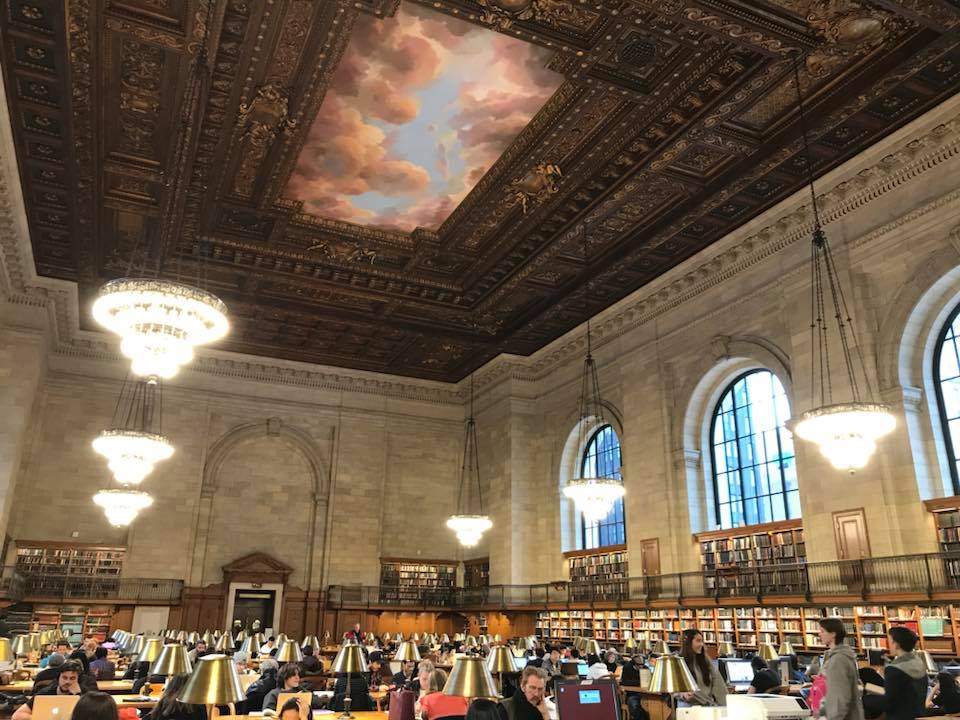 Beautiful scenes at New York Public Library