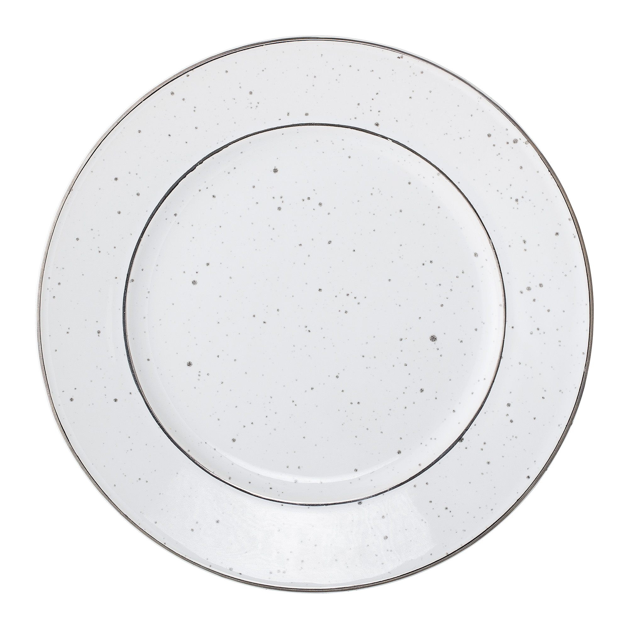 #008 White Fleck Side Plate    20cm Hire Price - £2.20 Minimum Order 3 Current Stock Available 60