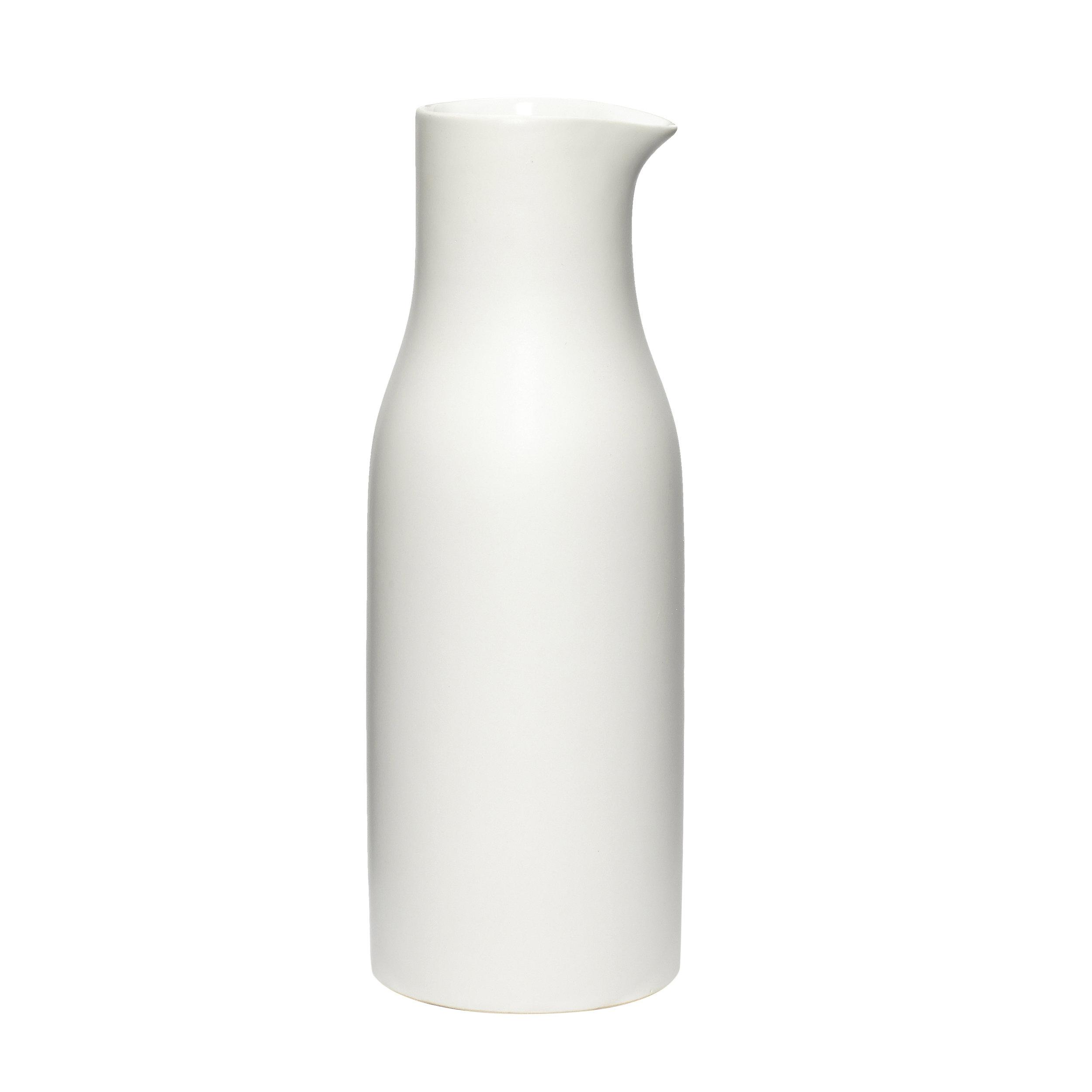 #023   White Porcelain Water Jug   10cm x H26cm Hire Price - £6.50 Minimum Order 5 Current Stock Available 12
