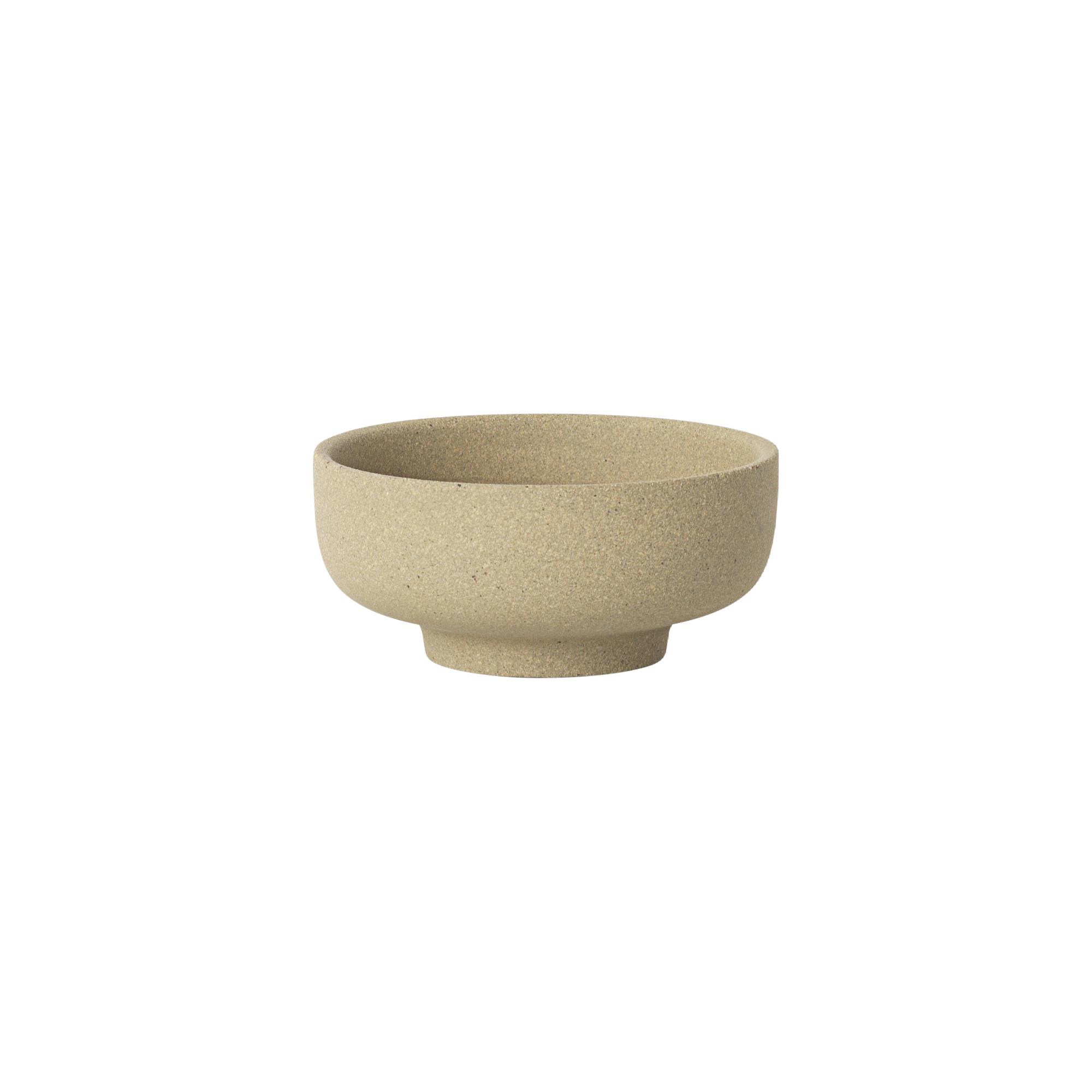 #022   Sand Salt Jar + Horn Serving Spoon   H3.3cm x 7.5cm Hire Price - £5  Minimum Order 3 Current Stock Available 12