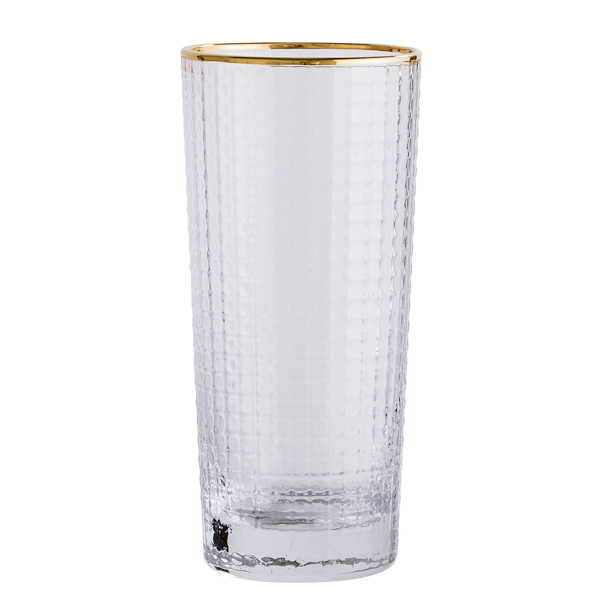 #024   Gold Edge Drinking Glass   6.5cm x H13.5cm Hire Price - £3 Minimum Order 10 Current Stock Available 60