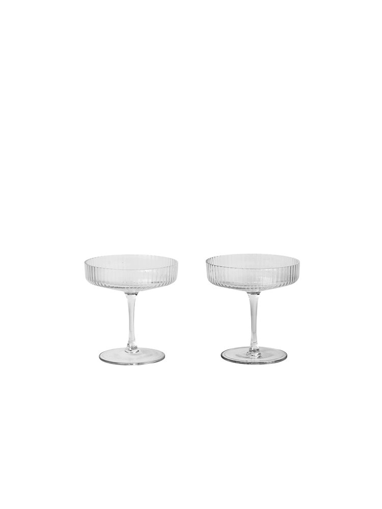 #028   Ripple Champagne Saucers   10.5cm x H 11 cm Hire Price - £3 Minimum Order 10 Current Stock Available 60