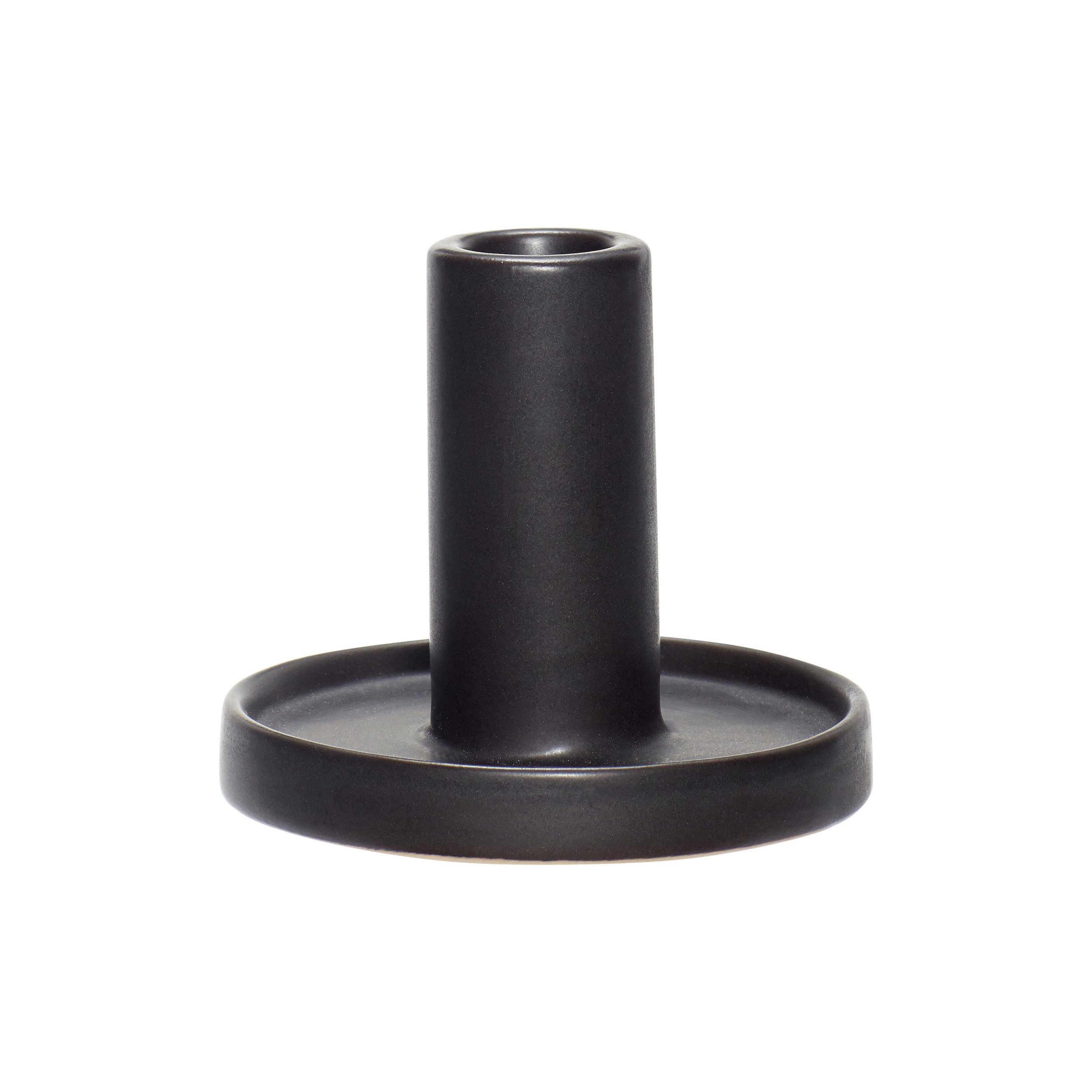 #034 Tall Black Ceramic Candle Stick    (available end of September 2018)   10cm x H8cm Hire Price - £1.50 Minimum Order 10 Current Stock Available 60