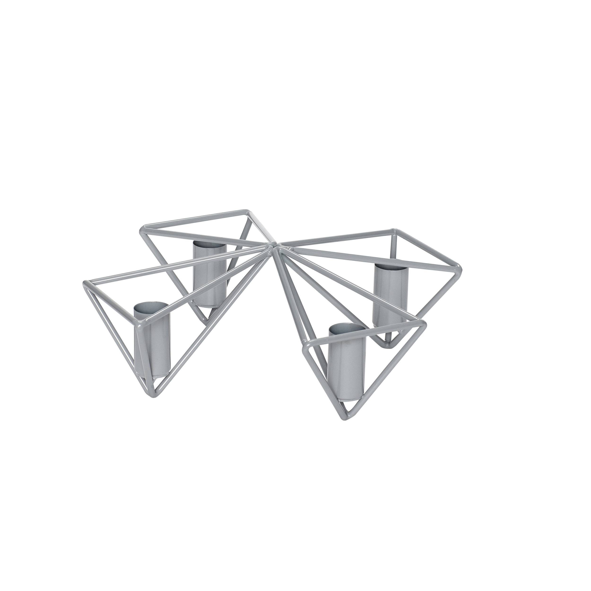 #038   Grey Metal Candle Centre Piece    21cm x H8cm Hire Price - £3.50 Minimum Order 10 Current Stock Available 24