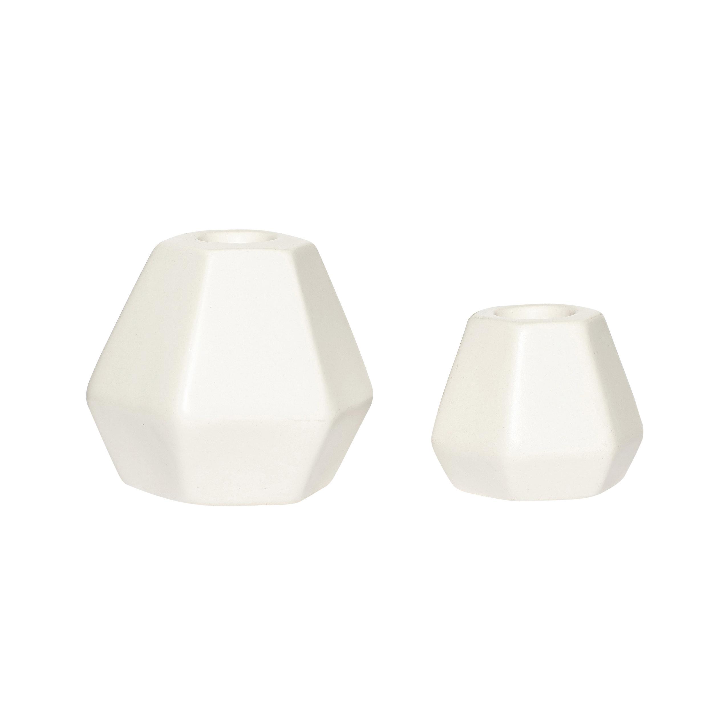 #039 White Marble Candle Stick Set    6cmxH5cm, 8cmxH8cm Hire Price - £2.50 Minimum Order 10 per set Current Stock Available 36 per set
