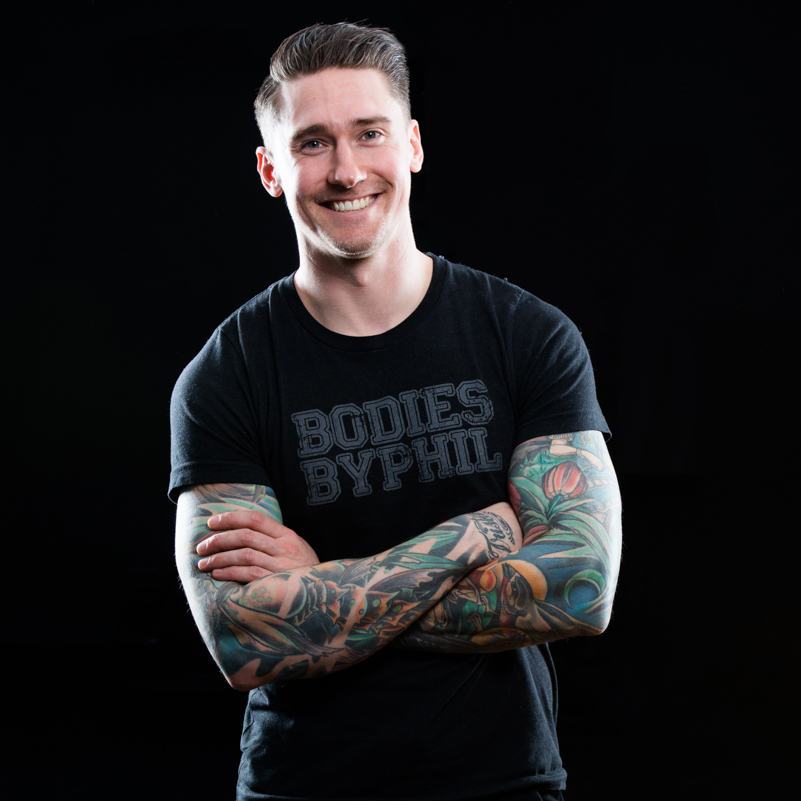 Phil Green Owner/Instructor   Phil is passionate about delivering results-driven workouts that are creative and unique. He is known for providing a serious workout in a not-so-serious environment by making sure jokes and fun are part of the equation. He's constantly striving to find new, interesting and trendy challenges for his clients and classes. He's also an expert dad-joke-maker.  On top of this he's well educated - he holds an honors diploma in Fitness & Health Promotion and holds a certification with the Canadian Society of Exercise Physiology.