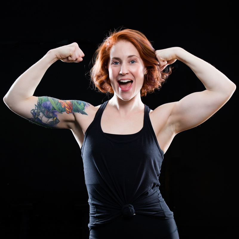 """Erin Gillespie Instructor   A public servant by day, trainer by night — Erin is a veteran bodiesbyphil member and shares a passion for jackedness and sweet, sweet gainz. Erin aspires to train with her abspiration JLo, but in the meantime, she continues to bring her experience and a """"no shit music"""" policy to her strength and conditioning classes.  In addition to her awesome taste in music, Erin holds a Master's degree in Public Policy (in the event a policy challenge arises) and is a Certified Personal Trainer with the Certified Professional Trainers Network (CPTN)."""