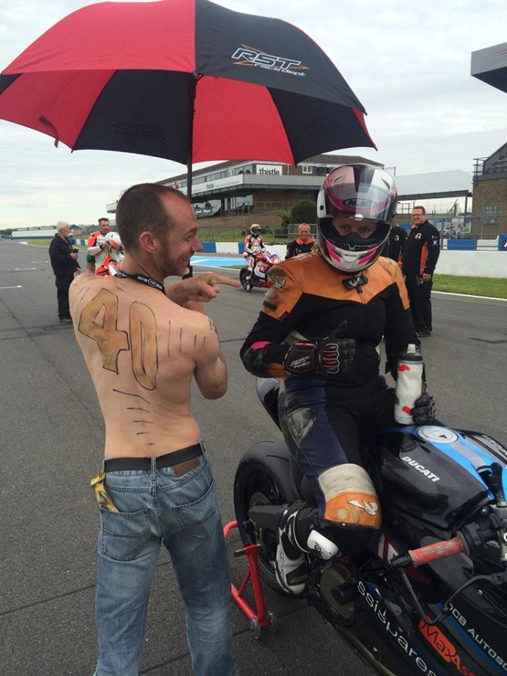 """Special thanks to Damo """" The Osteo """", my brolly dolly for race 3, helped a lot treating my leg also!"""