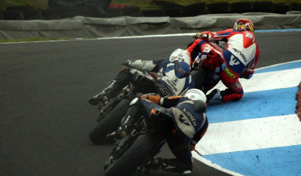 Chasing Aaron Brown and Phil Atkinson at Knockhill. Great shot by Glyns Photos.