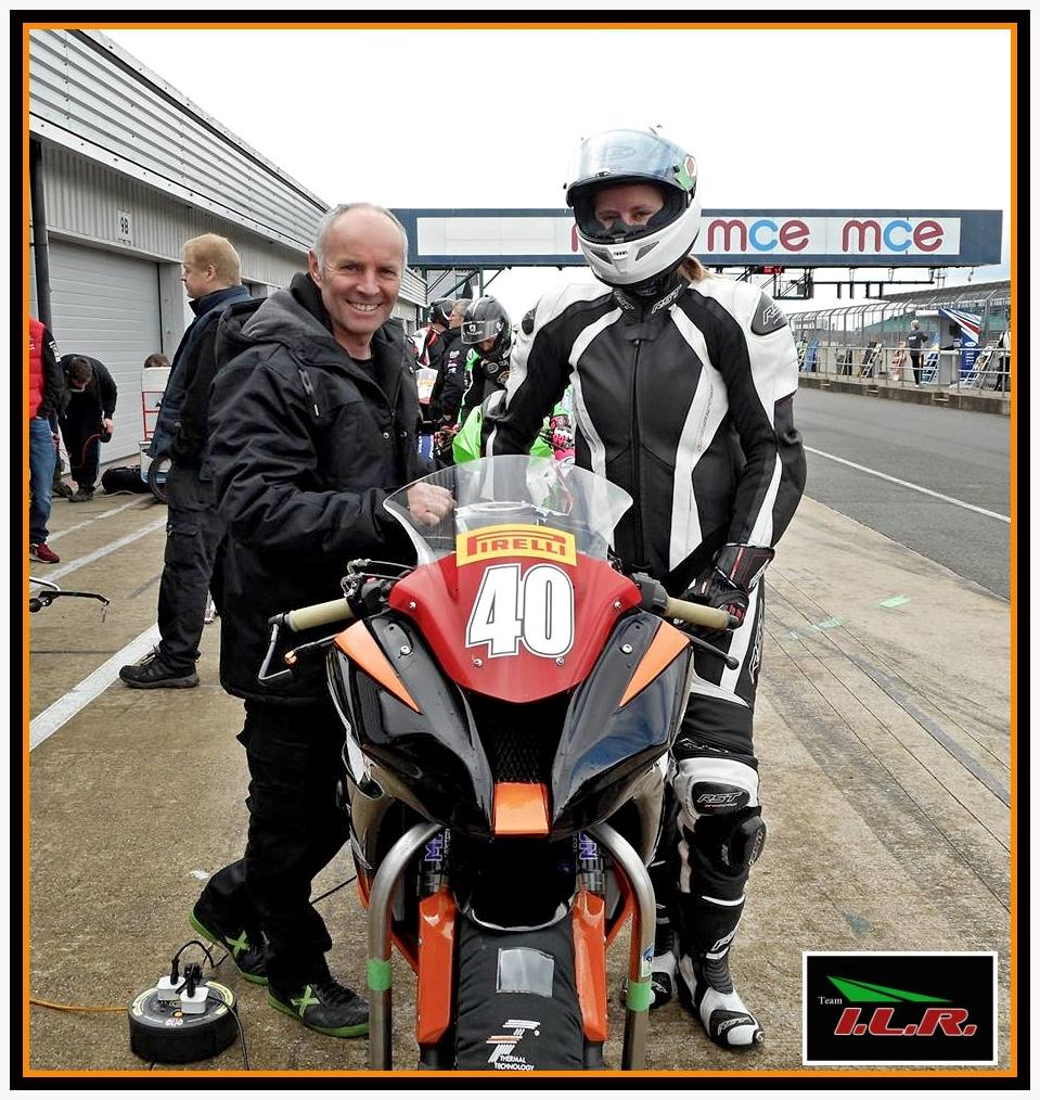 Waiting for conditions to improve with team owner Ian Lougher, in pitlane during FP.