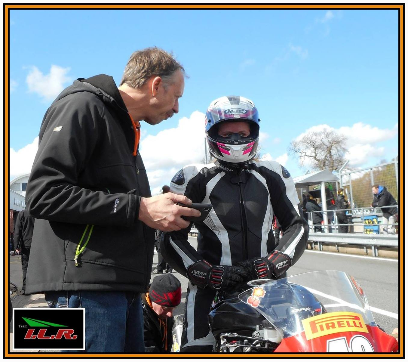 Nadieh with her dad Alex at Oulton Park
