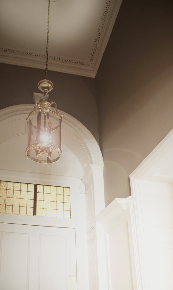 Hall detailing, to exhance existing plasterwork and wood wood features