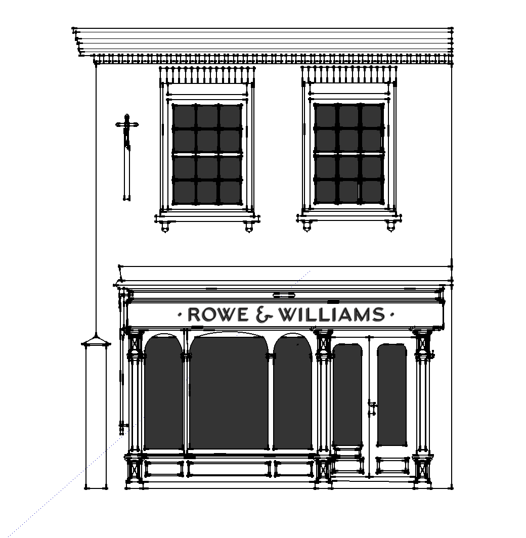 The planned frontage