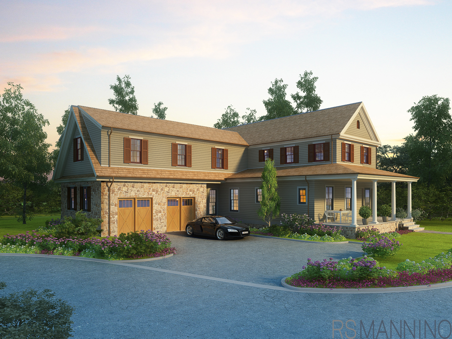 New Construction of a colonial home in Township of Washington, NJ.